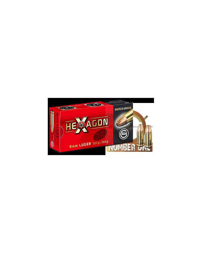 GECO 9 LUGER HEXAGON 124gr