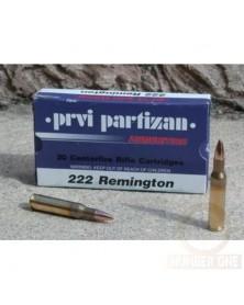 PARTIZAN 222 Rem 55gr FMJ
