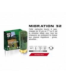 MIGRATION 32 CAL.12/70 BJ - 32G PACK DE 100 CARTOUCHES