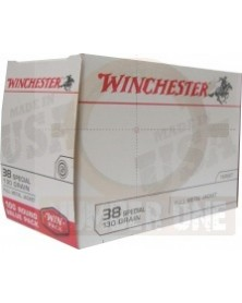 WINCHESTER 38 SPECIAL 130gr FMJ (X100)