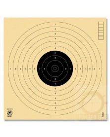 CIBLES PISTOLET 10 M ISSF NON NUMEROTEES