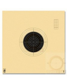CIBLES CARABINE 50 M ISSF NUMEROTEES 20X20